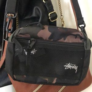 Brand New. Never Worn. STUSSY. CAMO. SLING BAG.
